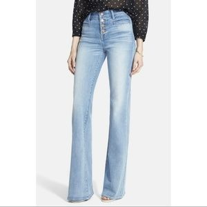 Madewell Flea Market Flare Button Front Jeans
